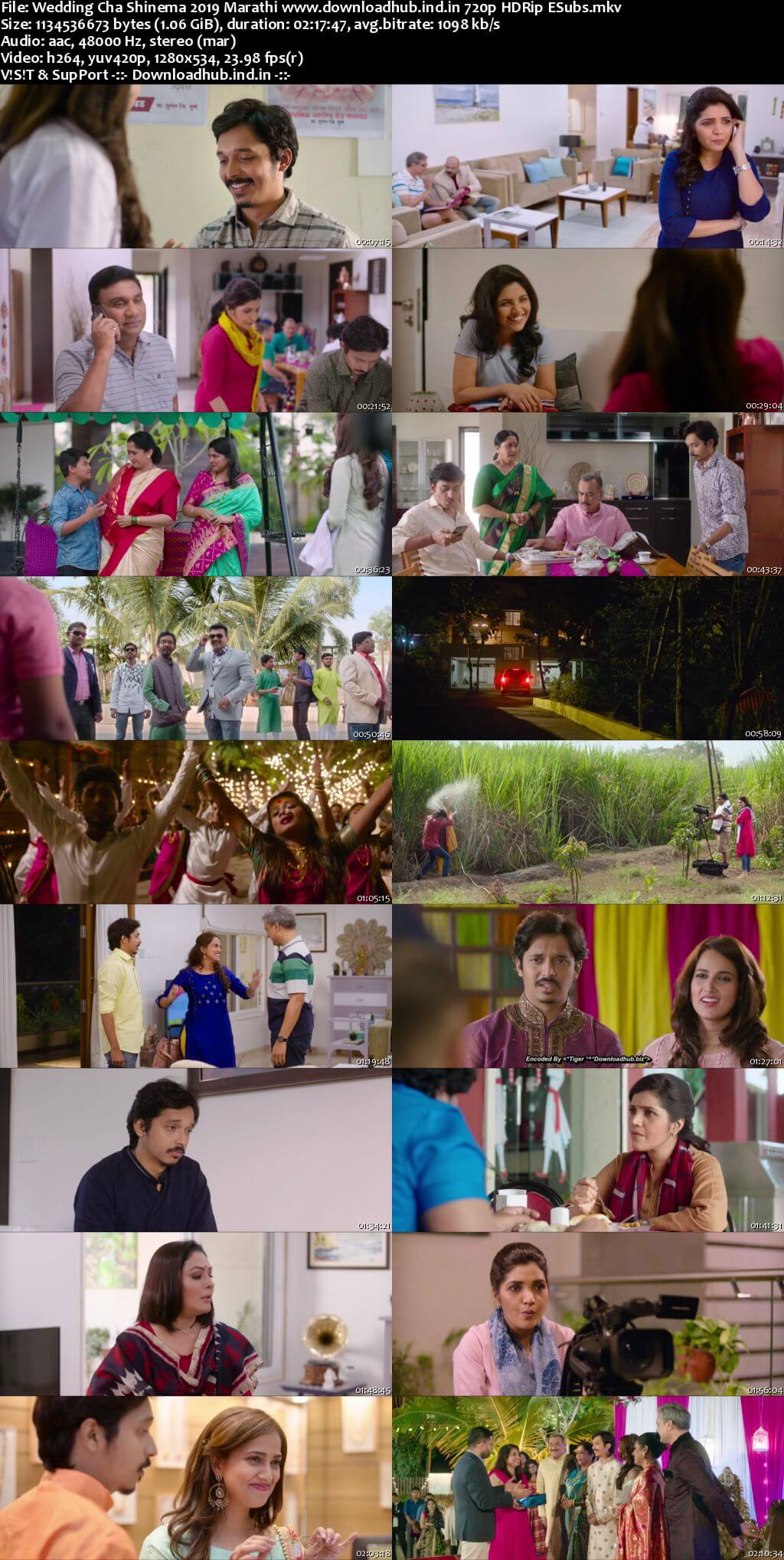Download Wedding Cha Shinema 2019 Marathi 480p HDRip