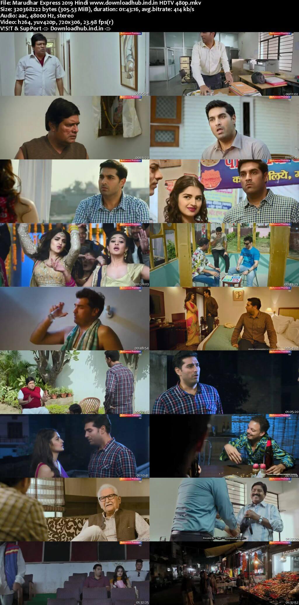 Marudhar Express 2019 Hindi 300MB HDTV 480p