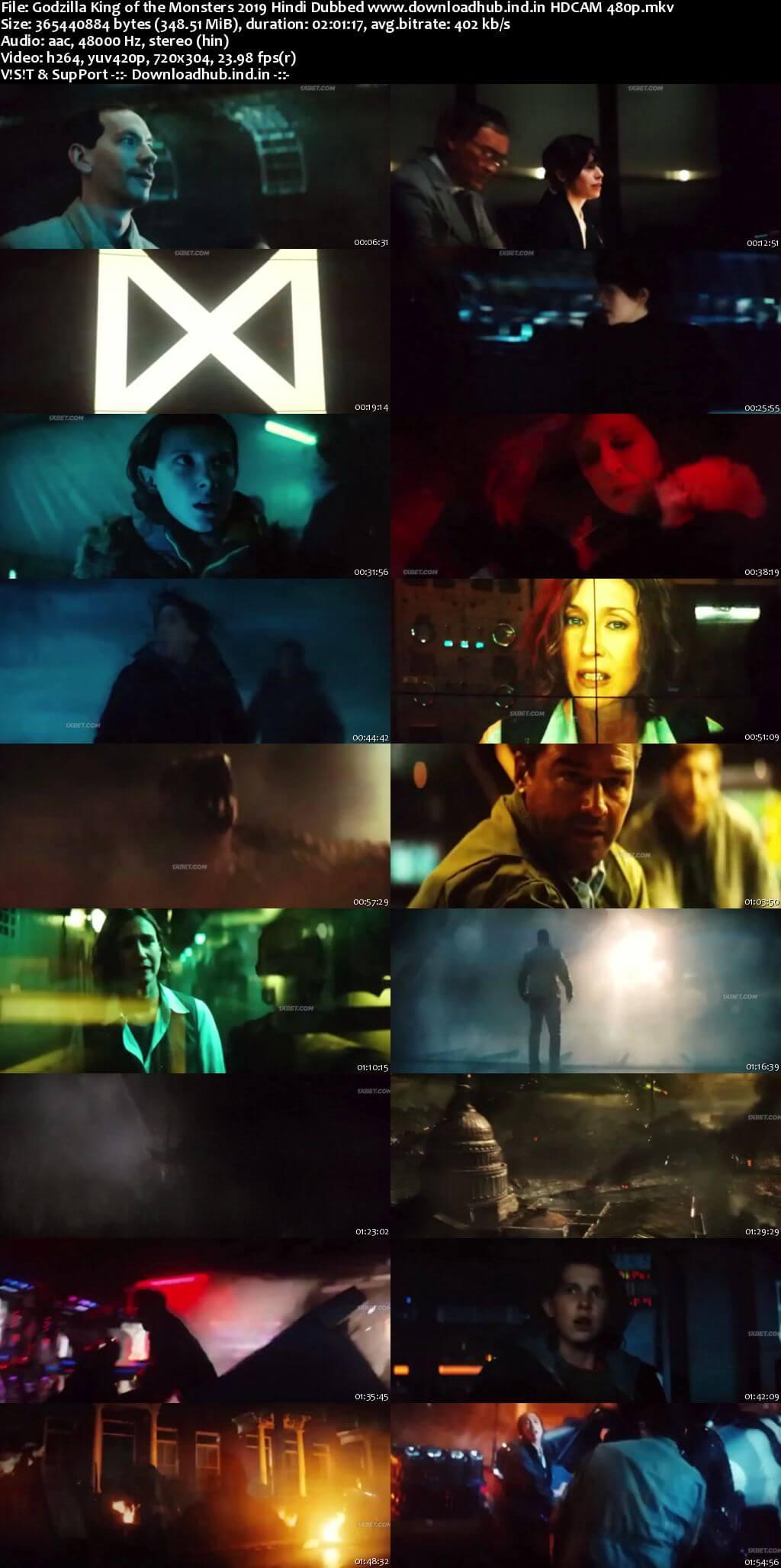 Godzilla King of the Monsters 2019 Hindi Dubbed 350MB HDCAM 480p
