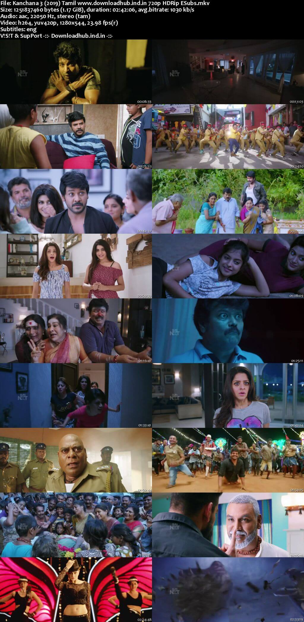 Kanchana 3 2019 Tamil 720p HDRip ESubs