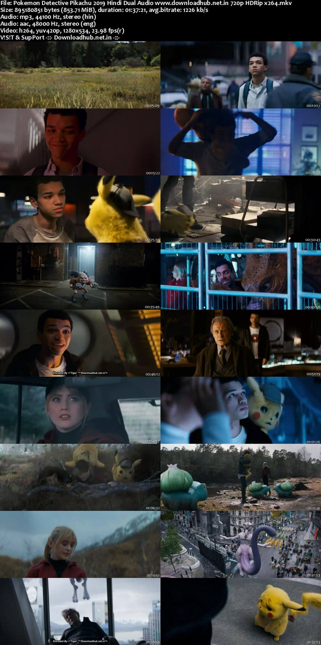 Pokemon Detective Pikachu 2019 Hindi Dual Audio 720p HDRip x264