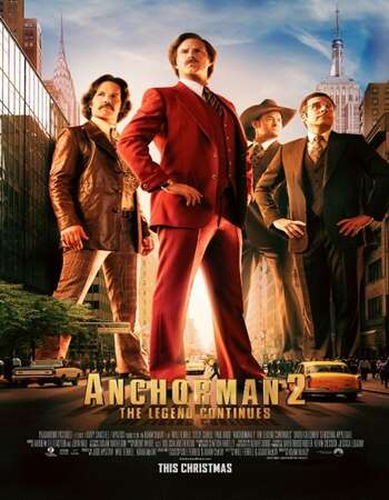 Anchorman 2 The Legend Continues 2013 Hindi Dual Audio BRRip Full Movie 720p Download