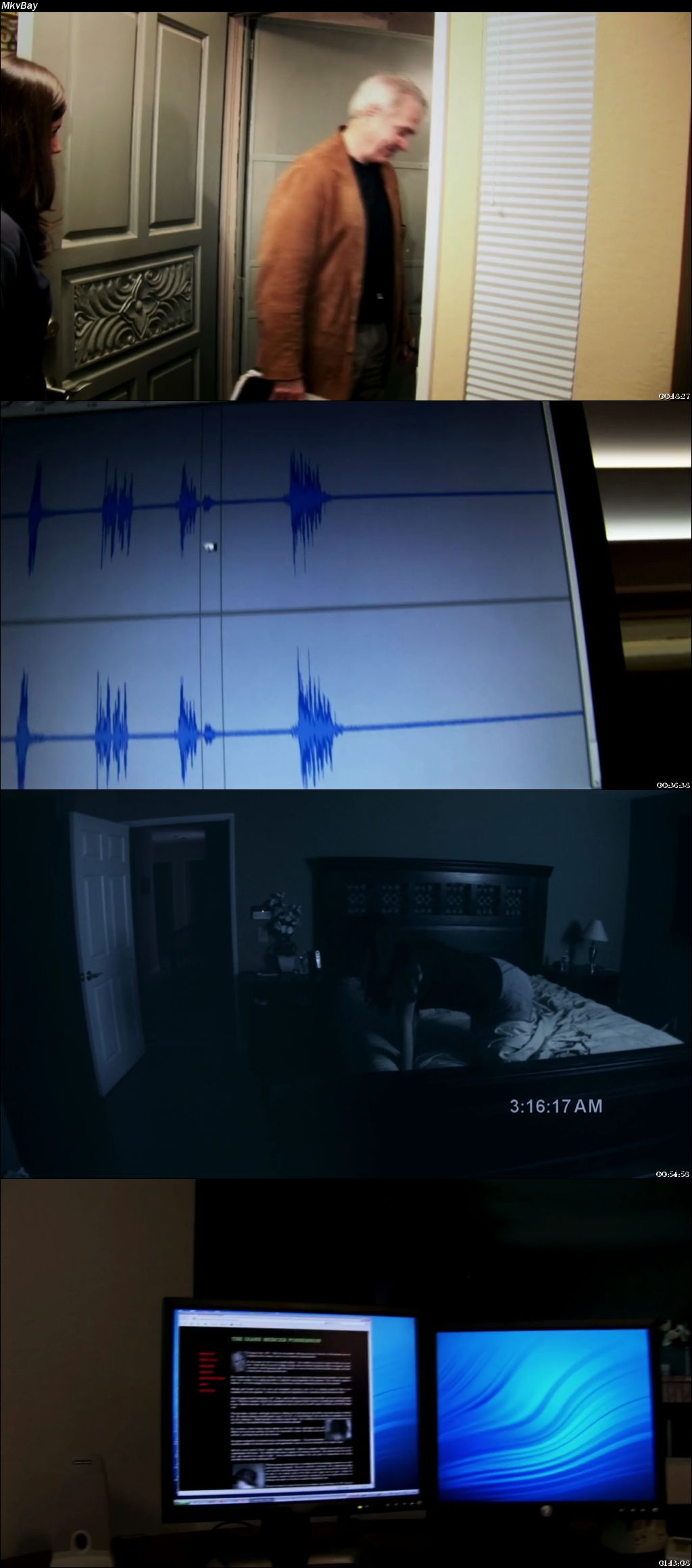 Screen Shoot of Paranormal Activity 2007 Full Hindi Dual Audio Movie Download BluRay 720p