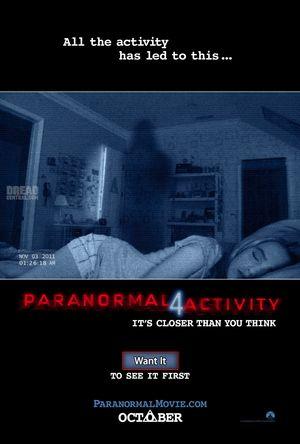 Poster of Paranormal Activity 4 2012 Full Hindi Dual Audio Movie Download BluRay 720p