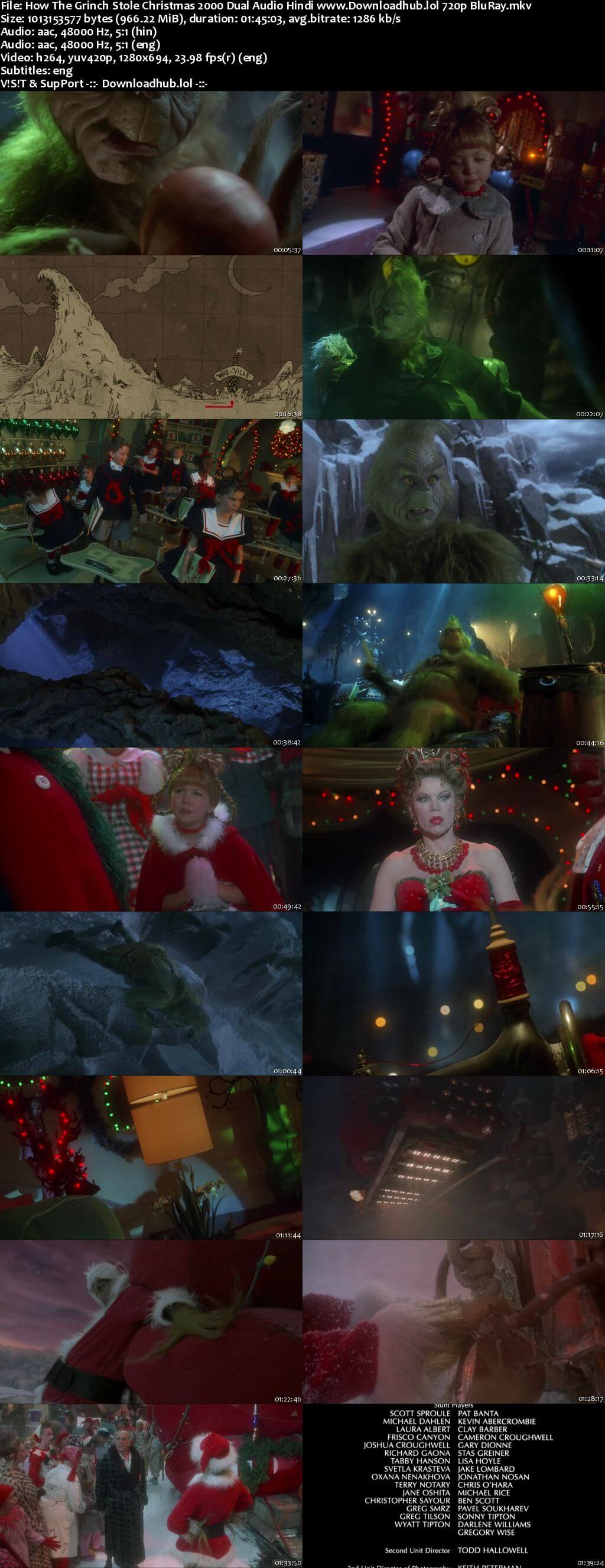 How the Grinch Stole Christmas 2000 Hindi Dual Audio 720p BluRay ESubs