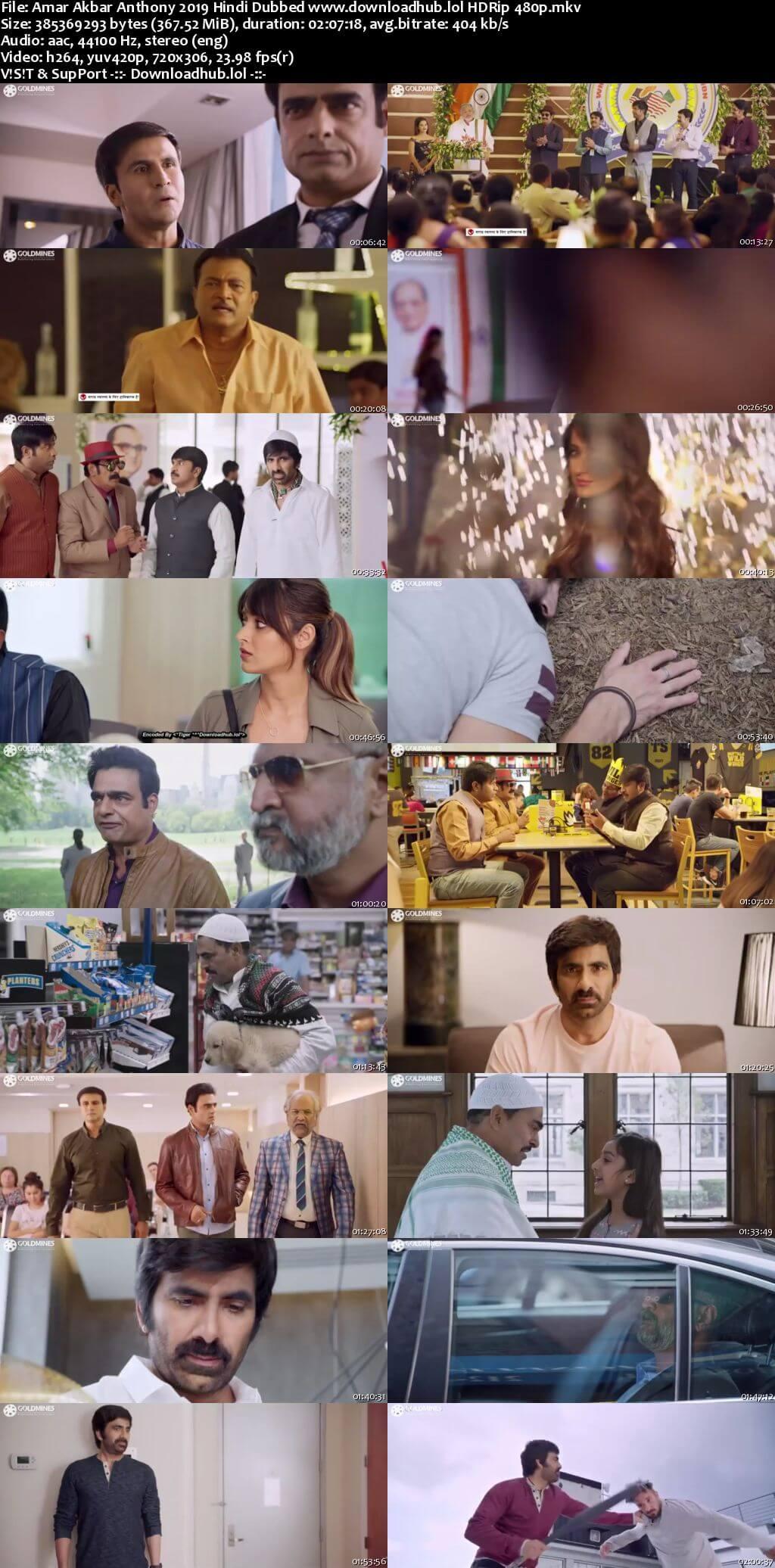 Amar Akbar Anthony 2019 Hindi Dubbed 350MB HDRip 480p