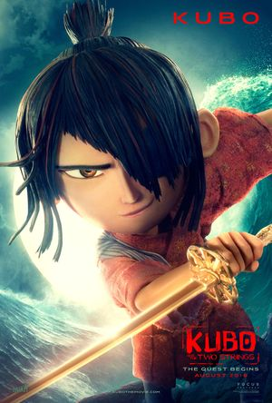 Poster of Kubo and the Two Strings 2016 Full Hindi Dual Audio Movie Download BluRay 720p