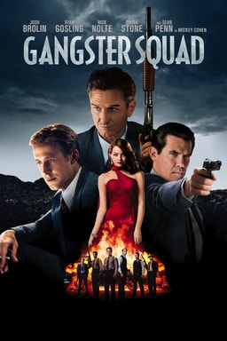 Poster of Gangster Squad 2013 Full Hindi Dual Audio Movie Download BluRay 720p