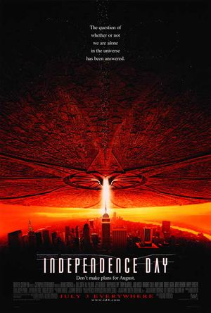 Poster of Independence Day 1996 Full Hindi Dual Audio Movie Download BluRay 720p