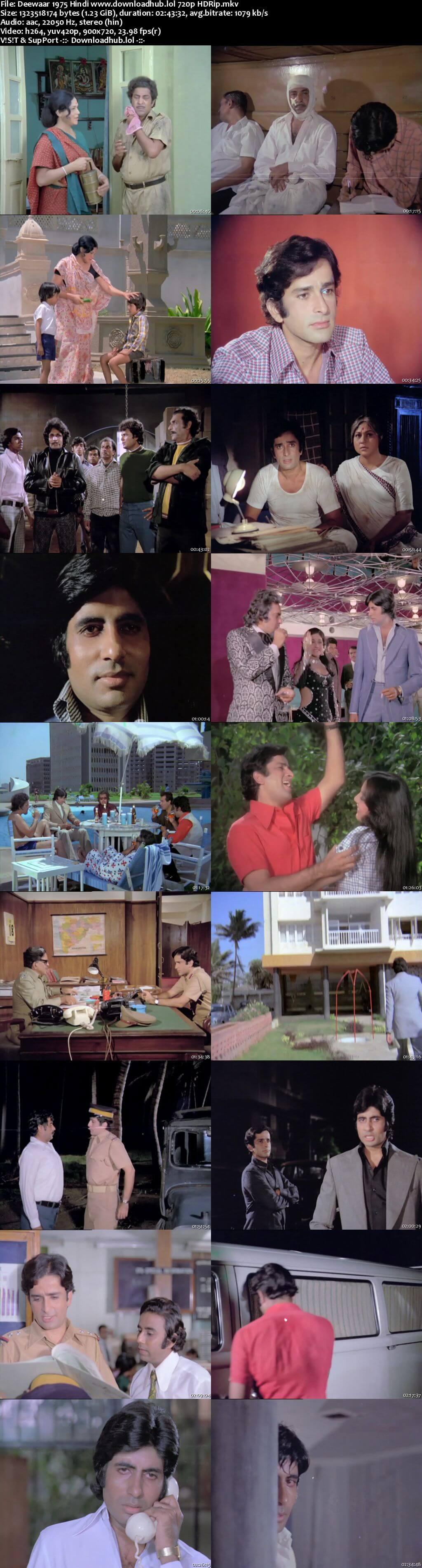 Deewaar 1975 Hindi 720p HDRip x264