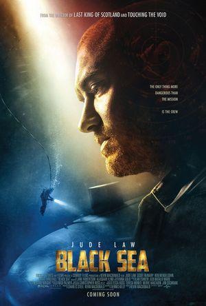Poster of Black Sea 2014 Full Hindi Dual Audio Movie Download BluRay 720p