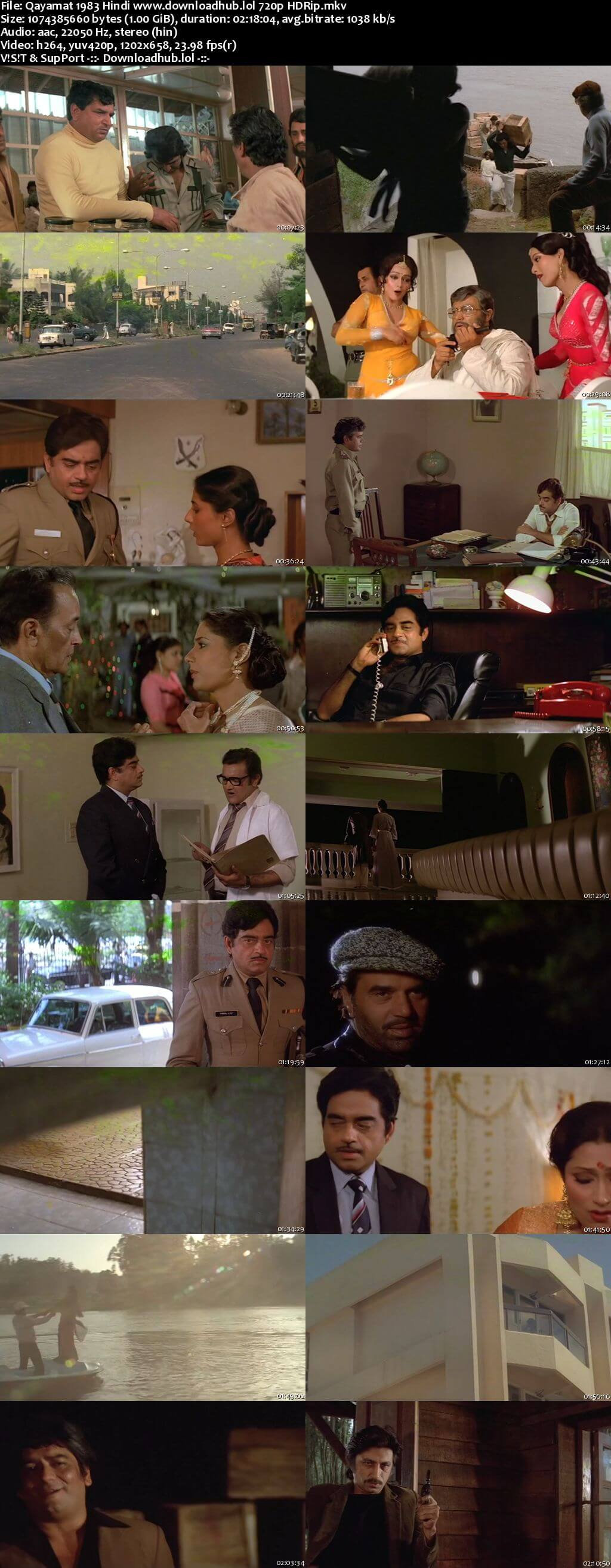 Qayamat 1983 Hindi 720p HDRip x264
