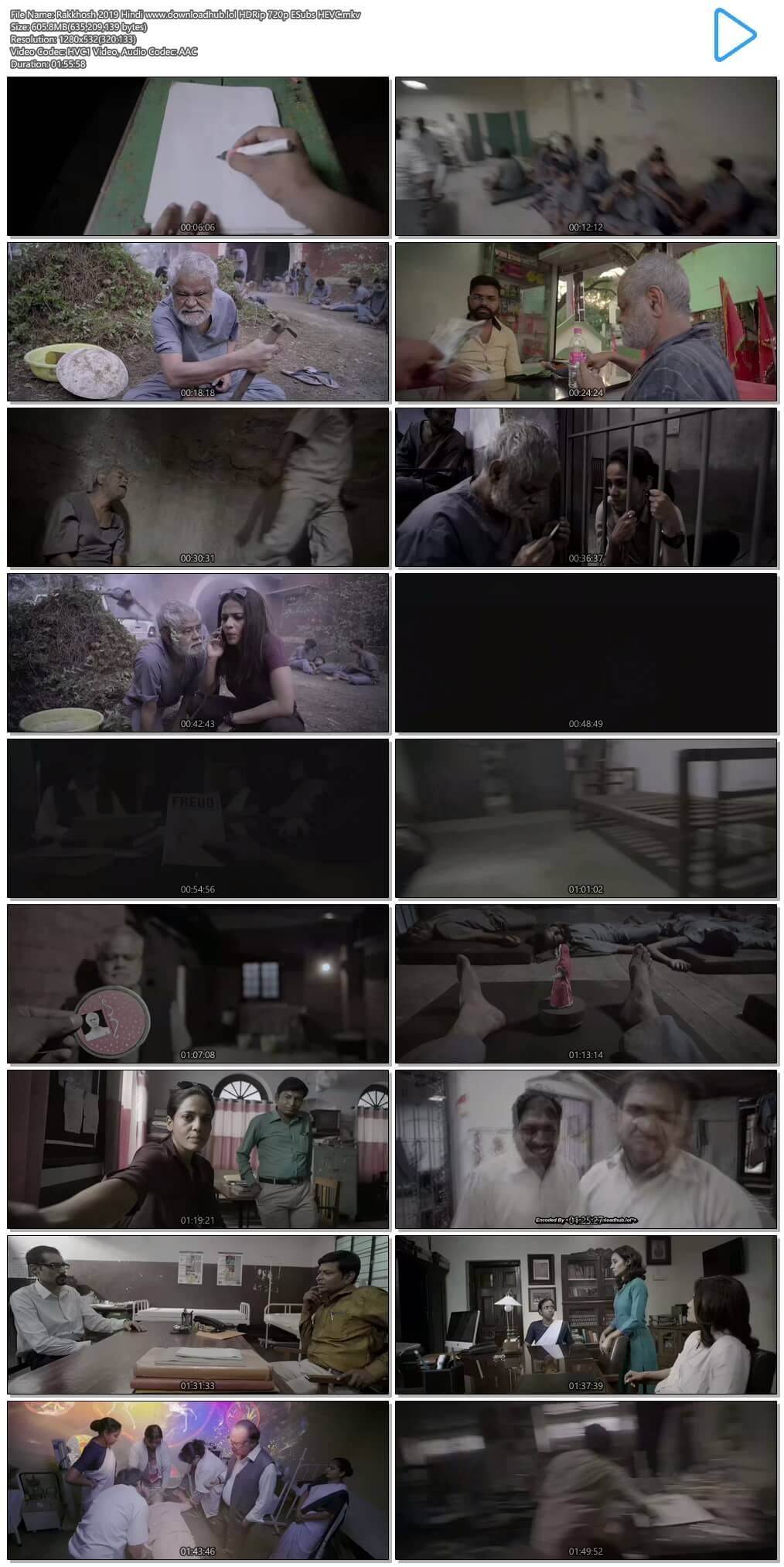Rakkhosh 2019 Hindi 600MB HDRip 720p ESubs HEVC
