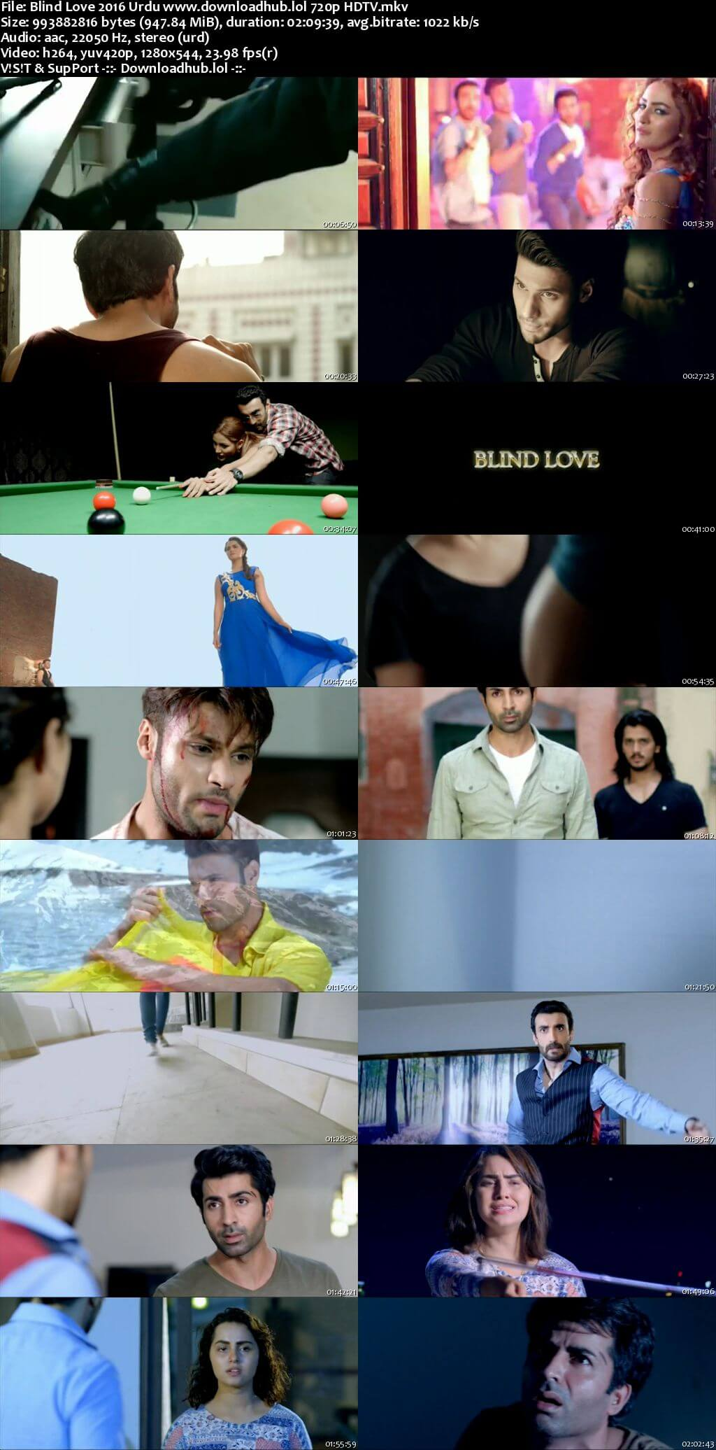 Blind Love 2016 Urdu 720p HDTV x264