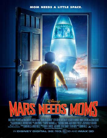 Mars Needs Moms 2011 Hindi Dual Audio BRRip Full Movie 720p Download