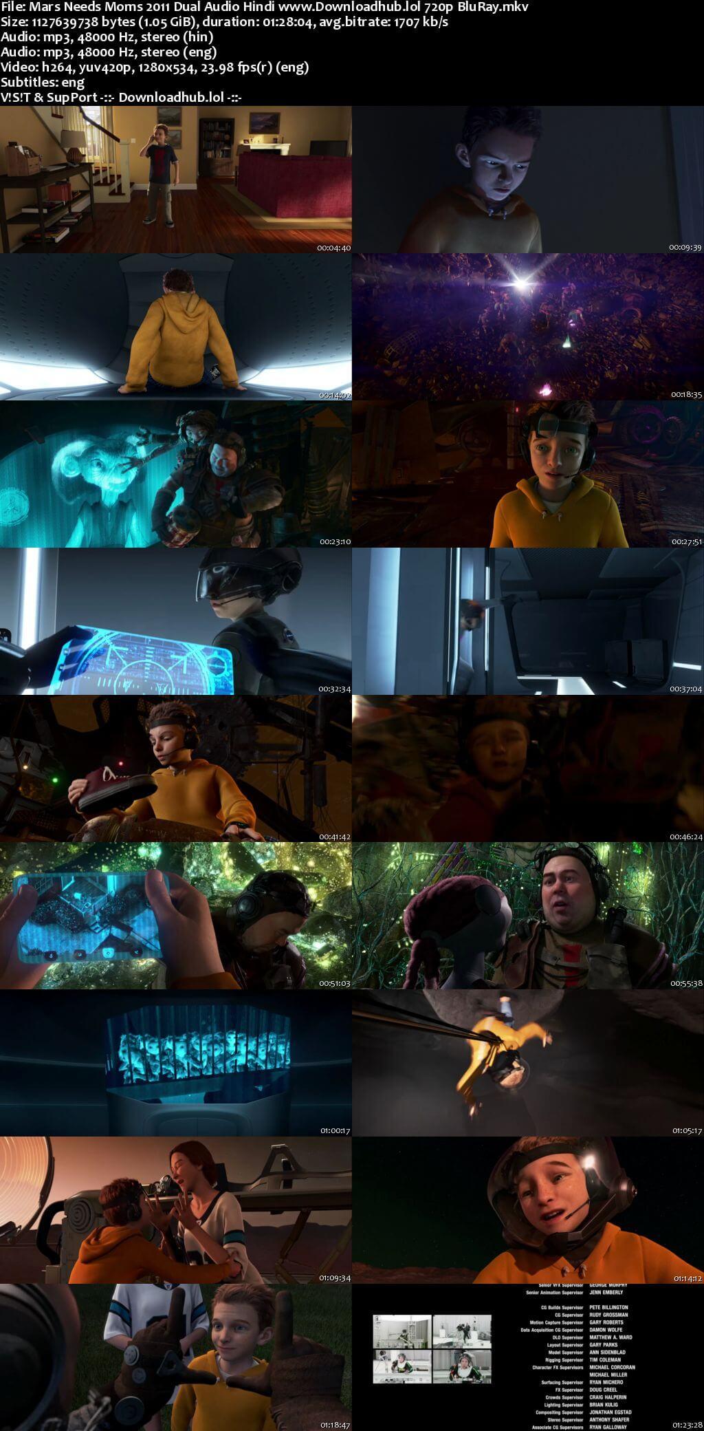 Mars Needs Moms 2011 Hindi Dual Audio 720p BluRay ESubs