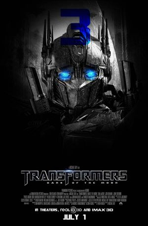 Poster of Transformers: Dark of the Moon 2011 Full Hindi Dual Audio Movie Download BluRay 720p