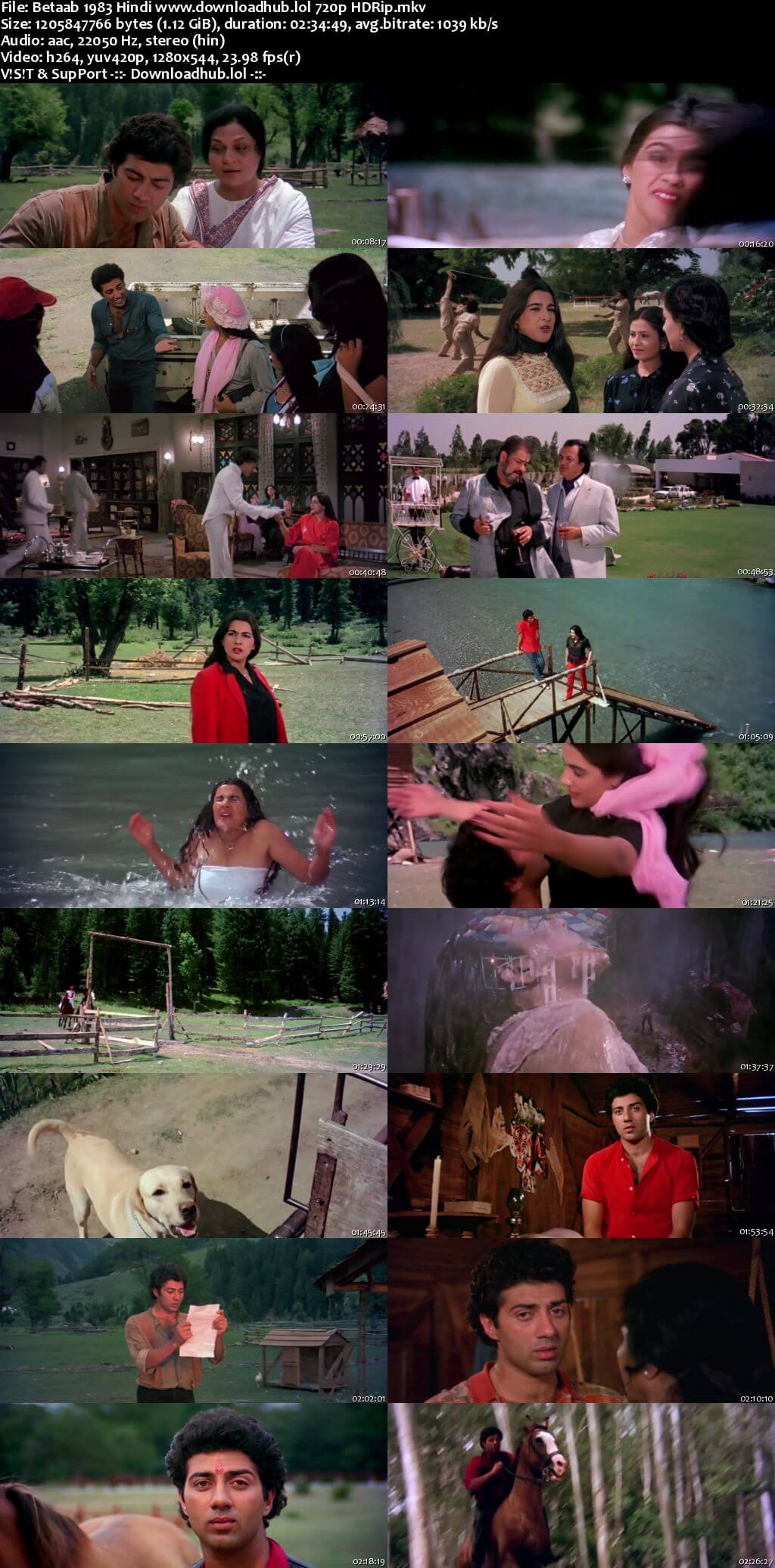 Betaab 1983 Hindi 720p HDRip x264