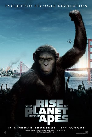Poster of Rise of the Planet of the Apes 2011 Full Hindi Dual Audio Movie Download BluRay 720p