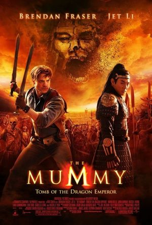 Poster of The Mummy: Tomb of the Dragon Emperor 2008 Full Hindi Dual Audio Movie Download BluRay 720p