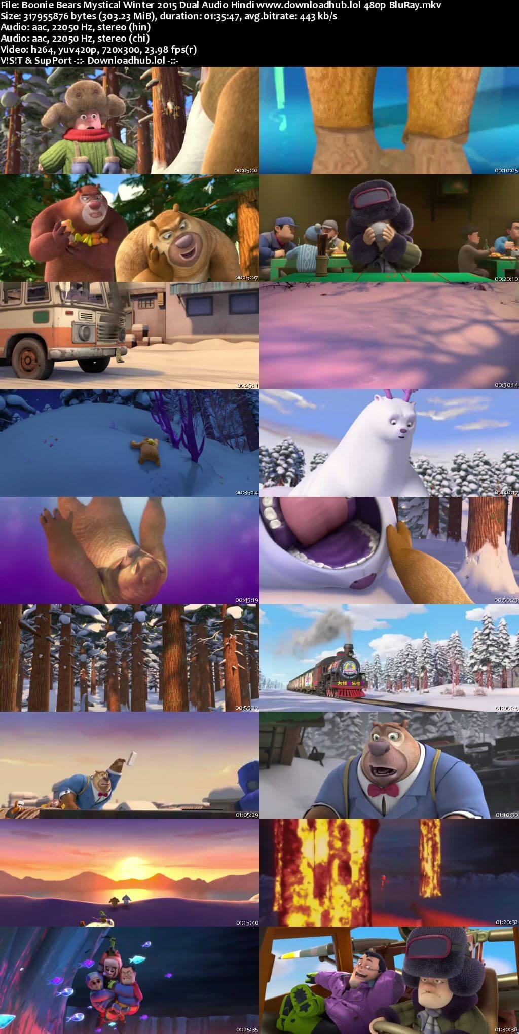 Boonie Bears Mystical Winter 2015 Hindi Dual Audio 300MB BluRay 480p