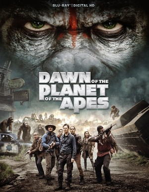 Poster of Dawn of the Planet of the Apes 2014 Full Hindi Dual Audio Movie Download BluRay 720p