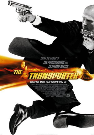 Poster of The Transporter 2002 Full Hindi Dual Audio Movie Download BluRay 720p