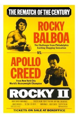Poster of Rocky II 1979 Full Hindi Dual Audio Movie Download BluRay 720p