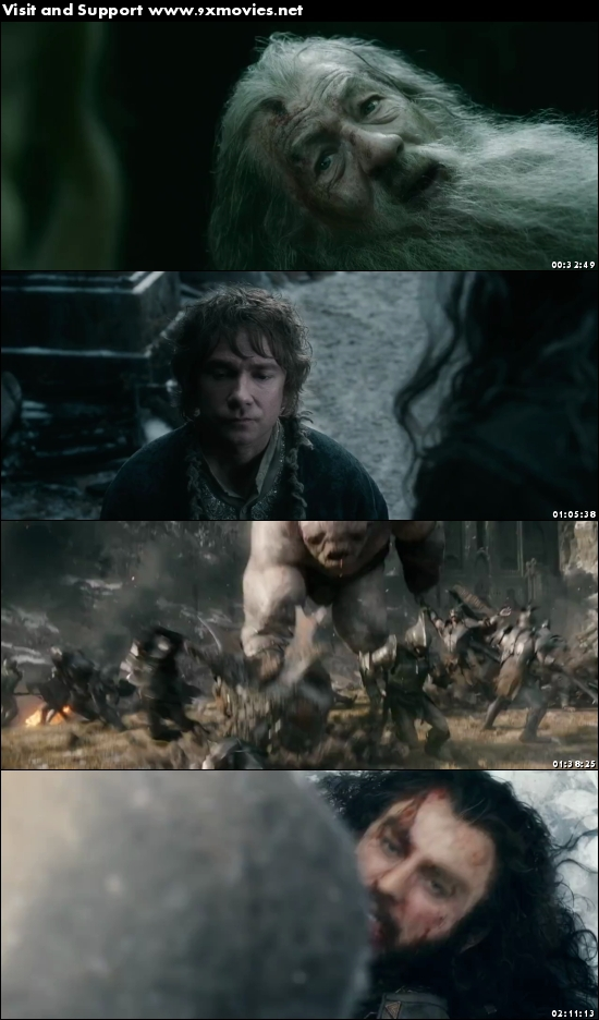 The Hobbit The Battle of The Five Armies 2014 Extended Dual Audio Hindi 480p BluRay
