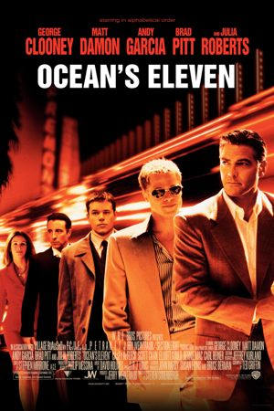 Poster of Ocean's Eleven 2001 Full Hindi Dual Audio Movie Download BluRay 720p