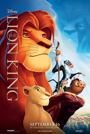 Poster of The Lion King 1994 Full Hindi Dual Audio Movie Download BluRay 720p