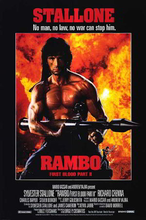Poster of Rambo: First Blood Part II 1985 Full Hindi Dual Audio Movie Download BluRay 720p