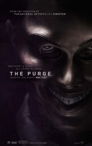 Poster of The Purge 2013 Full Hindi Dual Audio Movie Download BluRay 720p