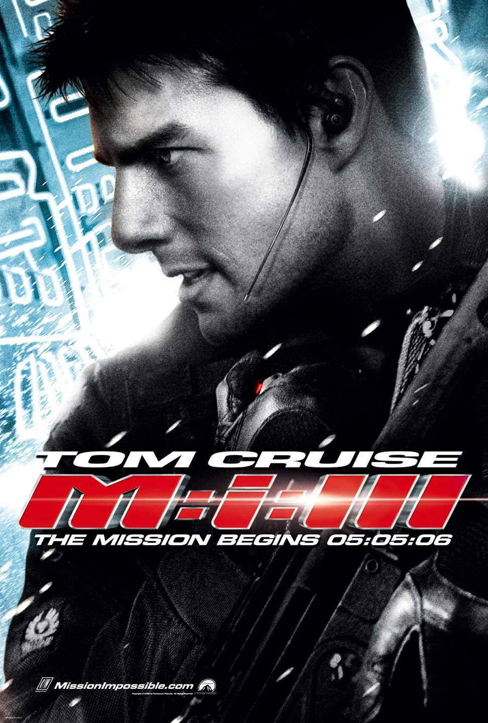 Poster of Mission: Impossible III 2006 Full Hindi Dual Audio Movie Download BluRay 720p