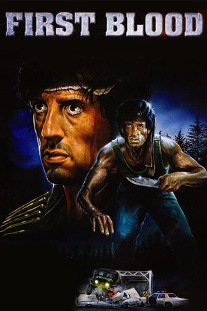 Poster of First Blood 1982 Full Hindi Dual Audio Movie Download BluRay 720p