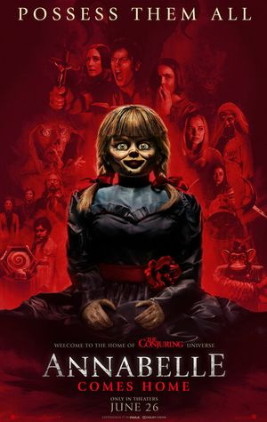 Poster of Annabelle Comes Home 2019 Full Hindi Dual Audio Movie Download HDCAM 720p