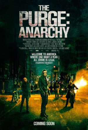 Poster of The Purge: Anarchy 2014 Full Hindi Dual Audio Movie Download BluRay 720p