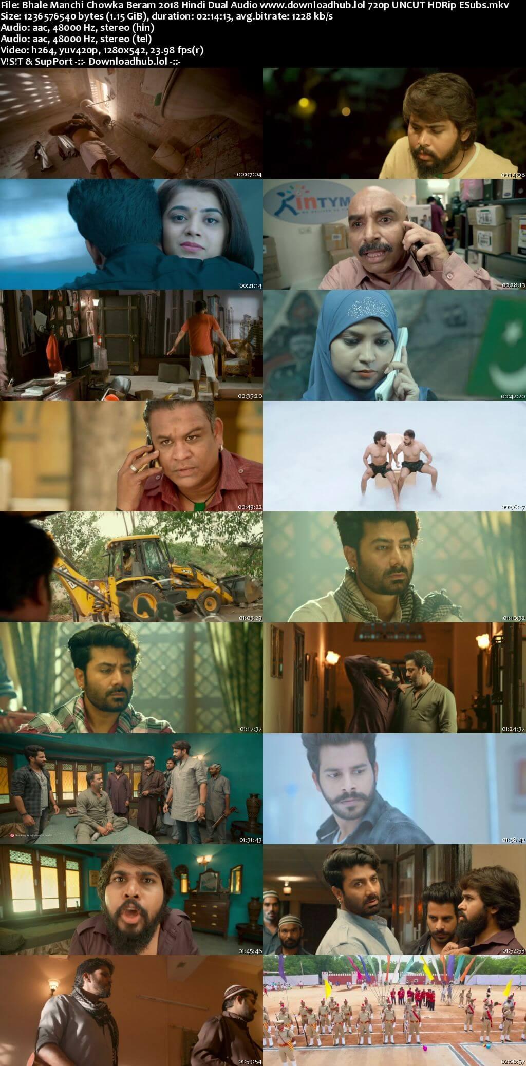 Bhale Manchi Chowka Beram 2018 Hindi Dual Audio 720p UNCUT HDRip ESubs