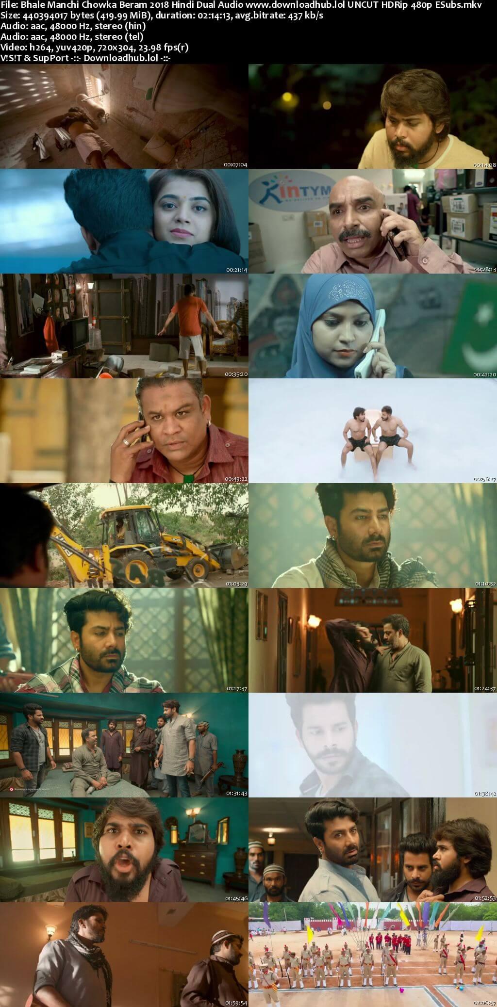 Bhale Manchi Chowka Beram 2018 Hindi Dual Audio 400MB UNCUT HDRip 480p ESubs