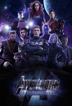 Poster of Avengers Endgame 2019 Full English Movie Download WEB-DL 720p