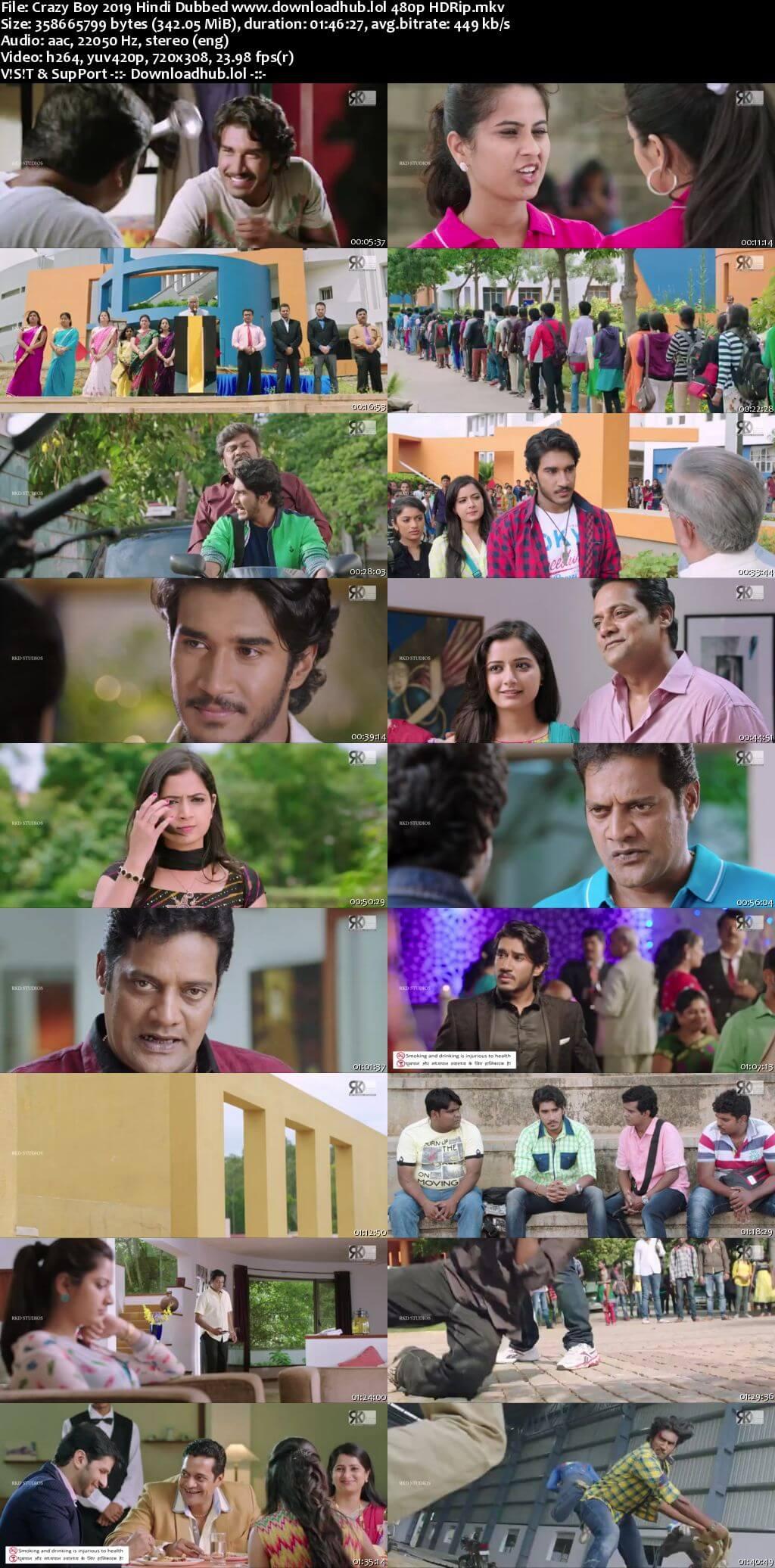 Crazy Boy 2019 Hindi Dubbed 300MB HDRip 480p