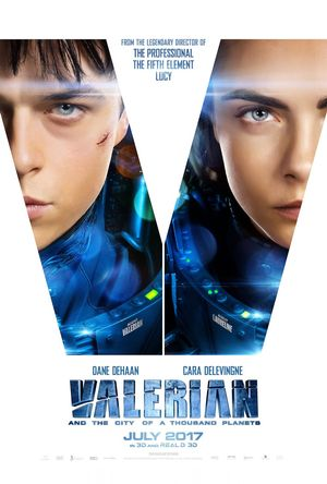 Poster of Valerian and the City of a Thousand Planets 2017 Full Hindi Dual Audio Movie Download BluRay 720p