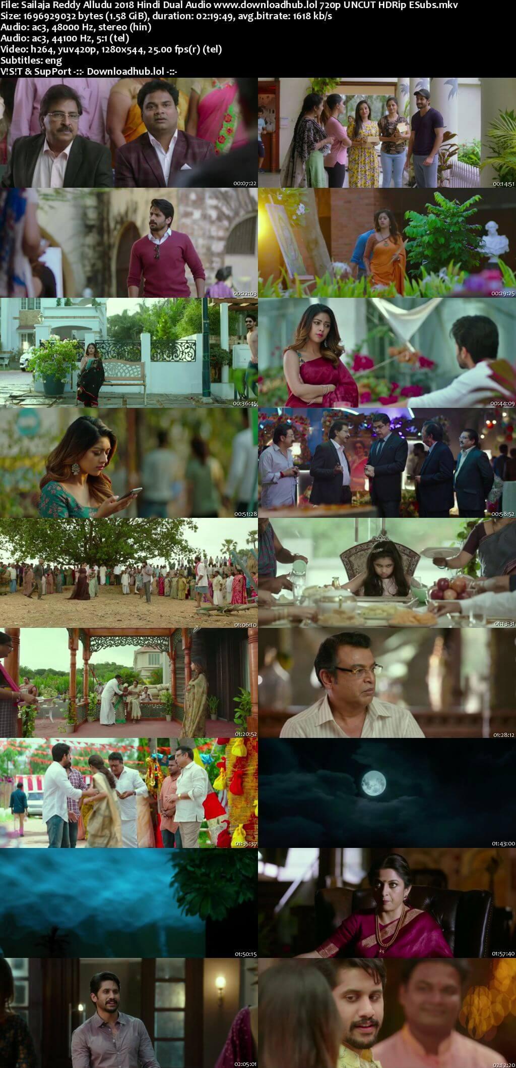 Sailaja Reddy Alludu 2018 Hindi Dual Audio 720p UNCUT HDRip ESubs