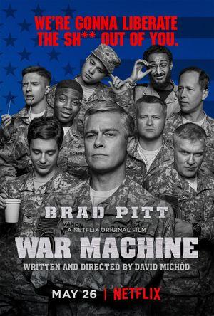Poster of War Machine 2017 Full Hindi Dual Audio Movie Download HDRip 720p