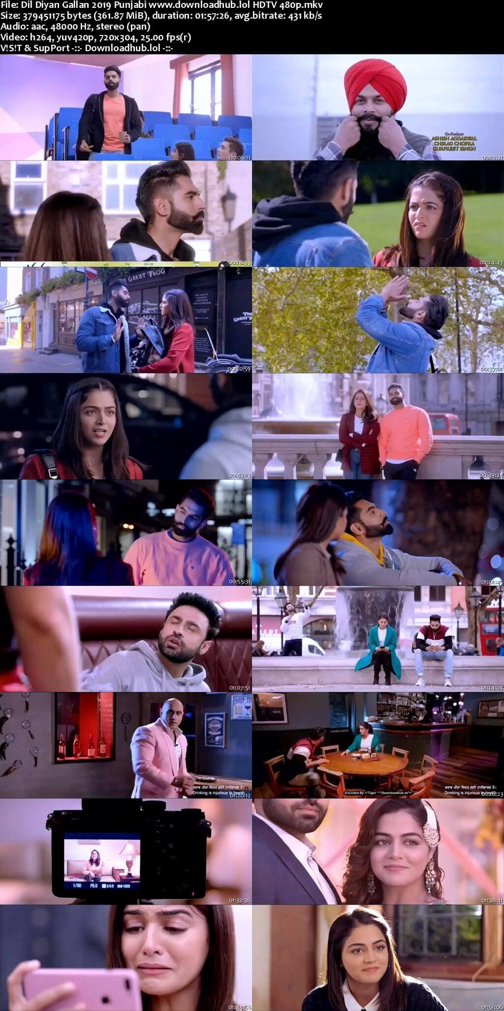 Dil Diyan Gallan 2019 Punjabi 350MB HDTV 480p