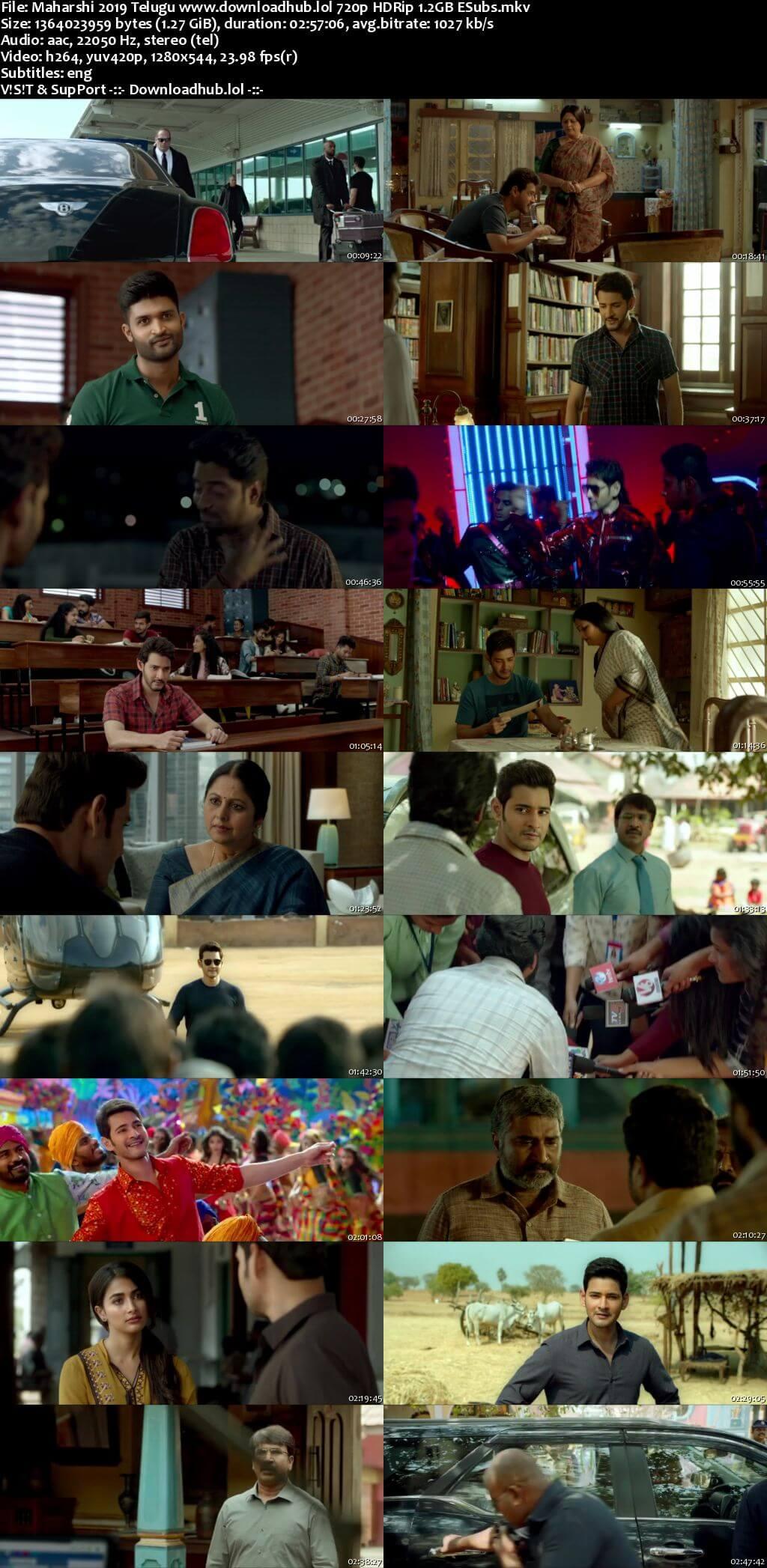 Maharshi 2019 Telugu 720p HDRip ESubs