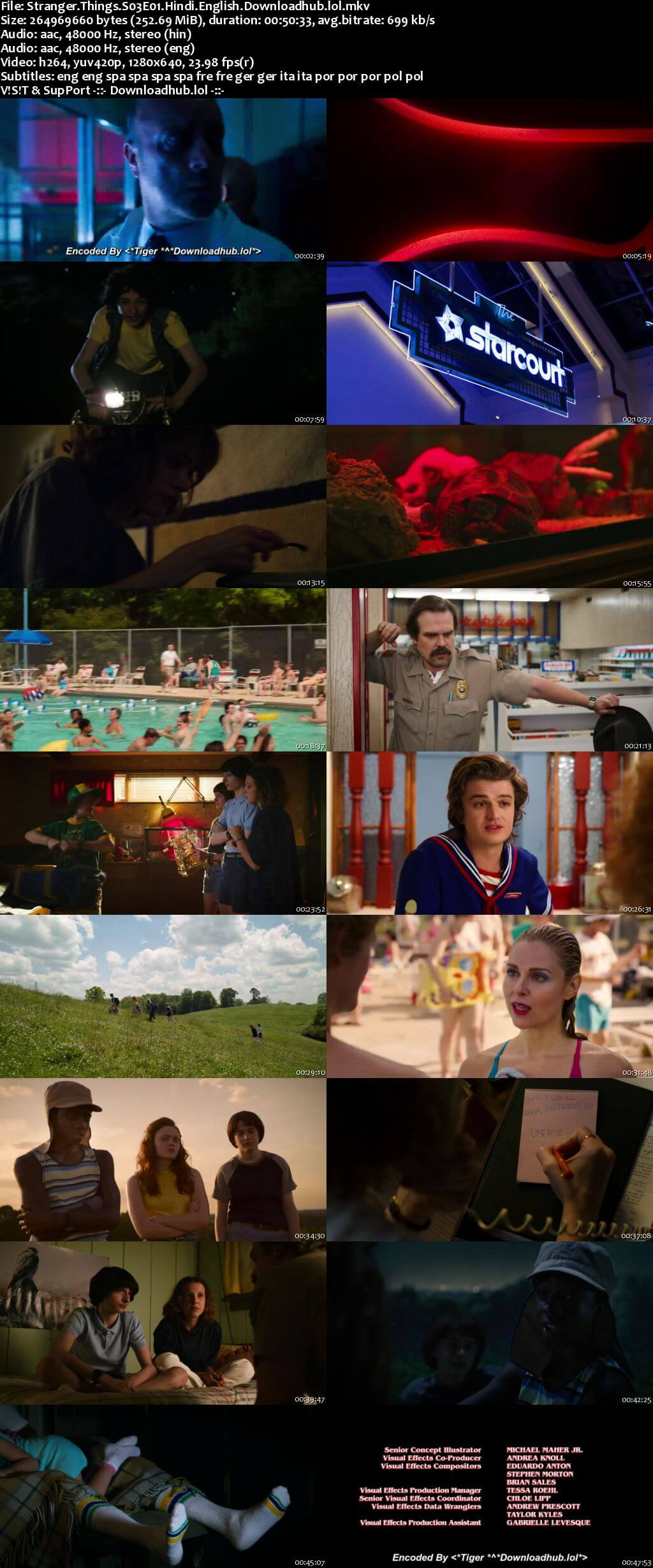 Stranger Things S03 Complete Hindi Dual Audio 720p Web-DL MSubs