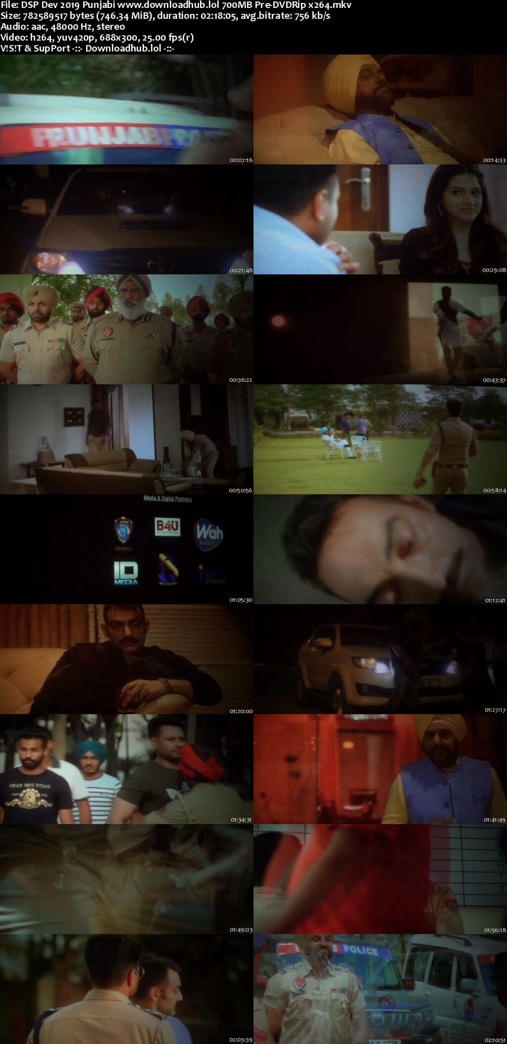 DSP Dev 2019 Punjabi 700MB Pre-DVDRip x264