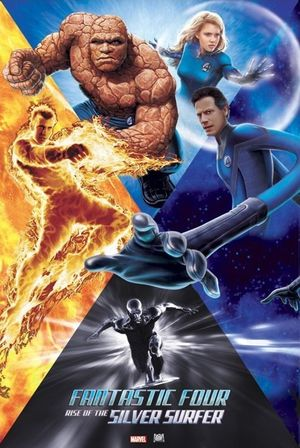 Poster of Fantastic Four: Rise of the Silver Surfer 2007 Full Hindi Dual Audio Movie Download BluRay 720p
