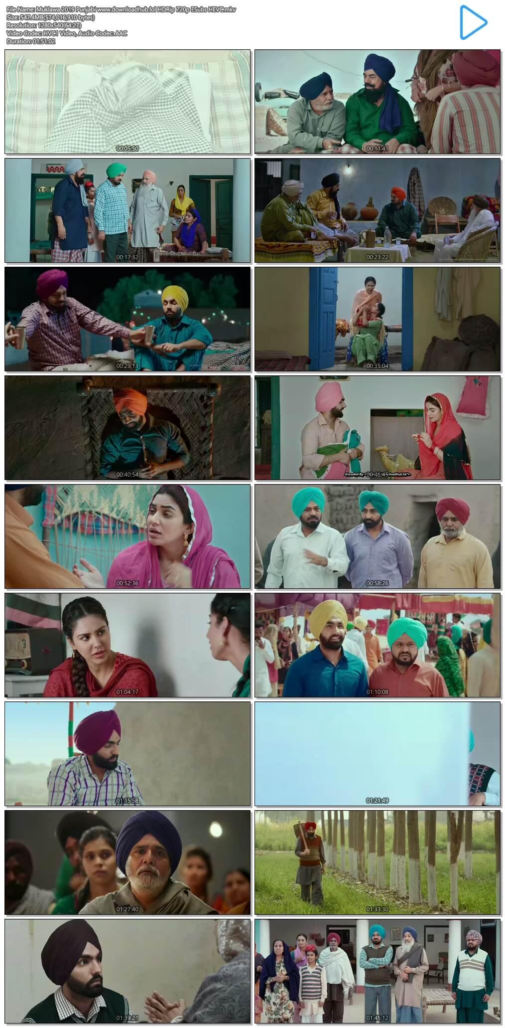 Muklawa 2019 Punjabi 550MB HDRip 720p ESubs HEVC